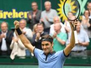 Tennis: Federer für Zverev eine Nummer zu groß - Sieg im Halle-Finale