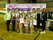 Rhythmische Sportgymnastik: Fördergruppe glänzt auf internationalem Parkett