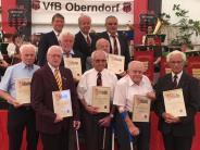 Feier: Siebenmal die Ehre für 70 Jahre