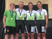 Inline-alpin-Slalom: Medaillen für Neu-Ulmer