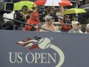 US-Open-Spiele unterbrochen: Regen in New York: Geduldsprobe für Tennisprofis