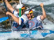 Pau in Frankreich: Canadier-Duo Behling/Becker holt WM-Bronze