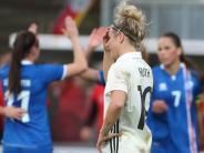 WM-Qualifikation: Herber Rückschlag für DFB-Frauen: 2:3 gegen Island