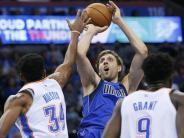 Basketball-Profiliga NBA: Dallas-Pleite in Oklahoma mit schwachem Nowitzki