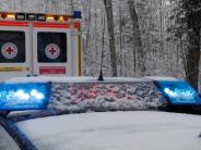 Bopfingen: Von schneebedeckter Straße abgekommen