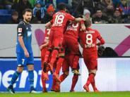 19. Spieltag: Leverkusen Zweiter - Kellersiege für Freiburg und Mainz