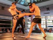 """Kampfsport: """"Fight Night"""" in der Glacis-Galerie: Boxen vor Schaufenstern"""