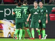 Abstiegskampf: Bremen gewinnt wichtiges Heimspiel: 3:1 gegenWolfsburg