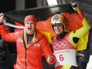 Olympische Winterspiele: Doppel-Triumph für deutsche Rodlerinnen in Pyeongchang