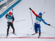 Olympia 2018: Foto-Finish: Schempp holt im Olympia-Massenstart Silber