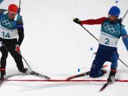 Olympia 2018: Eine Fußspitze fehlt Schempp beim Biathlon zum Sieg