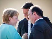 Merkel in Italien: Erdbeben überschattet Merkels Besuch in Italien