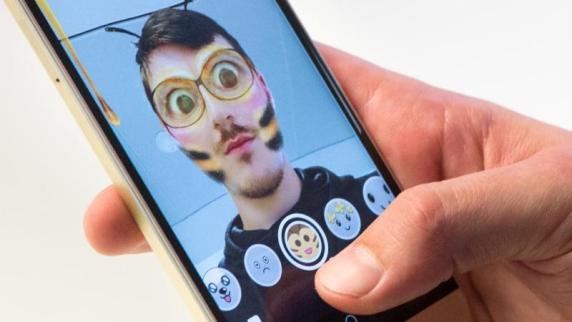 Gesichts-Filter von Snapchat