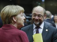 Politbarometer: Mehrheit hätte lieber Schulz als Merkel