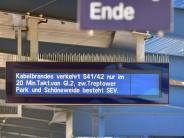 Bahn: Nach Brandanschlägen: Polizei überwacht Gleise aus der Luft