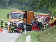 Unfall in Nagold: Sie hatten keine Chance - Müllwagen tötet Familie