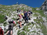 Alpenverein Kaufering: Einsamer Gipfelgenuss