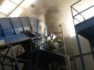 Lauingen: In Recyclingfirma brannte es