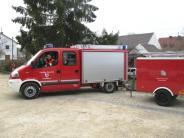 Versammlung: Rieblinger Feuerwehrauto fährt jetzt für die Hirschbacher Wehr