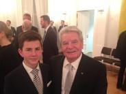 Ehrengast beim Bundespräsidenten: Junger Wertinger beim Großen Zapfenstreich