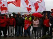 Bissingen: Gewerkschaft demonstriert vor Molkerei Gropper