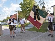 Laugna: Fahnenweihe des Burschenvereins