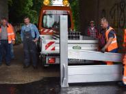 Stadtverbesserung: Schutzwand soll Roggden schnell sicher machen