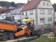 Straßenbauarbeiten: Binswanger Gässle jetzt staubfrei
