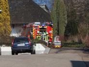 Feuerwehr: Hecke in Wertingen brennt