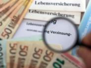 Versicherungen: Garantiezins von Lebensversicherern soll unter 1 Prozent sinken