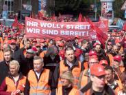 Tarife: IG Metall mobilisiert 86 000 Warnstreikende